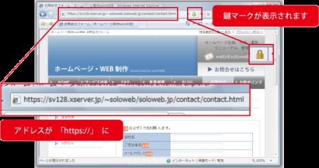 SSLページの見分け方